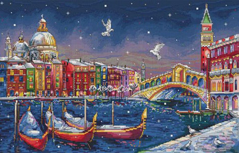 Merejka Cross Stitch Kit - Holiday Venice