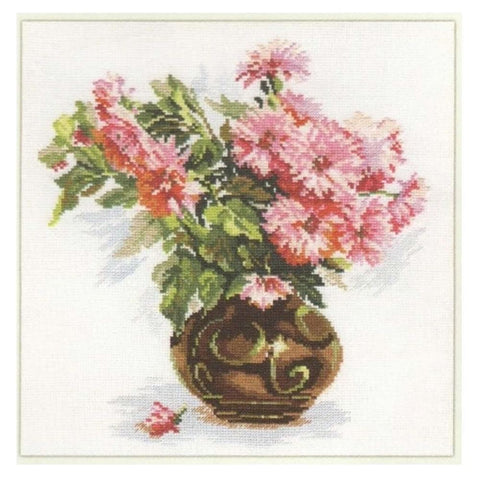 Alisa Cross Stitch Kit - Chrysanthemums