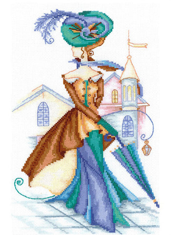Andriana Cross Stitch kit - Golden Cashmere