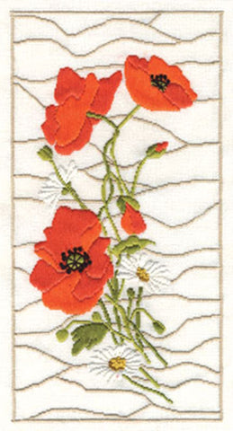 Panna Long Stitch Kit : Poppies and Daisies