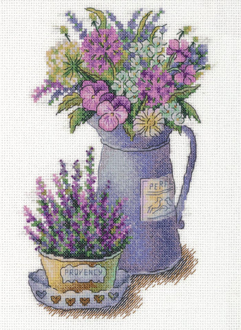 Panna Cross Stitch Kit - Flowers of Provence