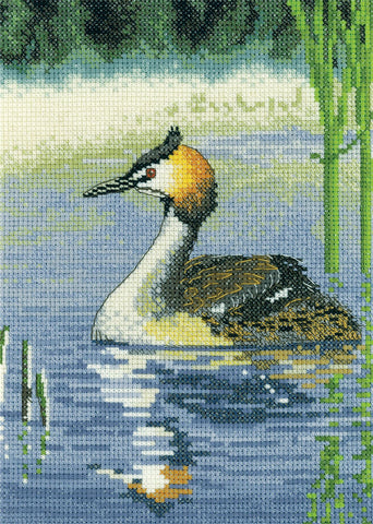 Heritage Crafts Cross Stitch Kit - Grebe (Aida)