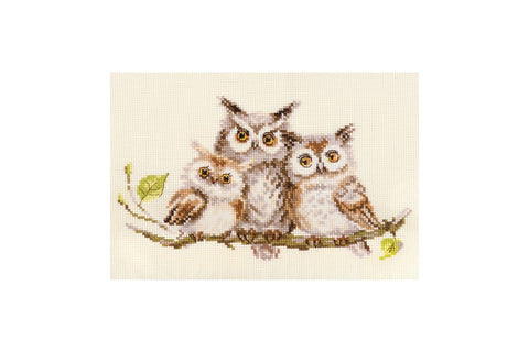 Alisa Cross Stitch Kit - Owls