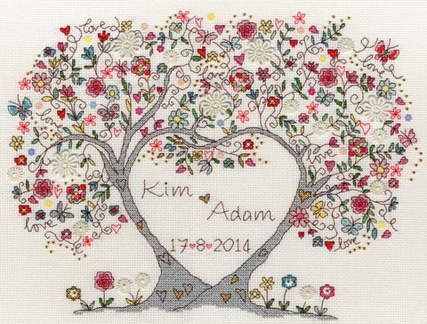 Bothy Threads Cross Stitch Kit - Love Blossoms