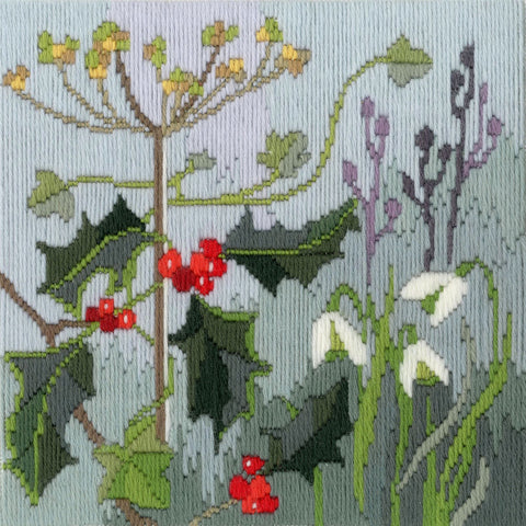 Derwentwater Designs Cross Stitch Kit - Long Stitch Seasons - Winter