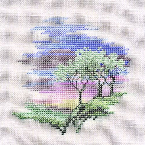 Derwentwater Designs Minuets Cross Stitch Kit - Frosty Trees (Aida)
