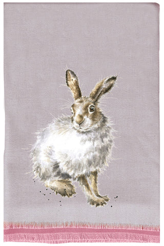 Wrendale Designs Winter Scarf and Gift Bag - Mountain Hare