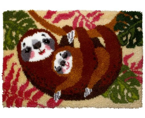 Orchidea Latch Hook Rug Kit - Mother and Baby Sloth