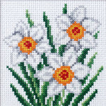 Orchidea Stamped Cross Stitch Kit - Narcissus