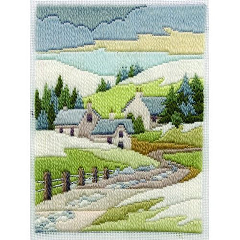 Derwentwater Designs Long Stitch Kit - Winter Cottage