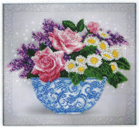 VDV Bead Embroidery Kit - Floral Sketch