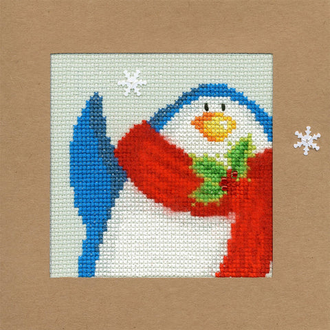 Bothy Threads Cross Stitch Card Kit - Snowy Penguin