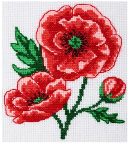 VDV Cross Stitch Kit - Poppies (M-0204),