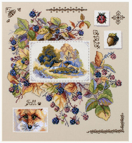 Merejka Cross Stitch Kit - Autumn Sampler