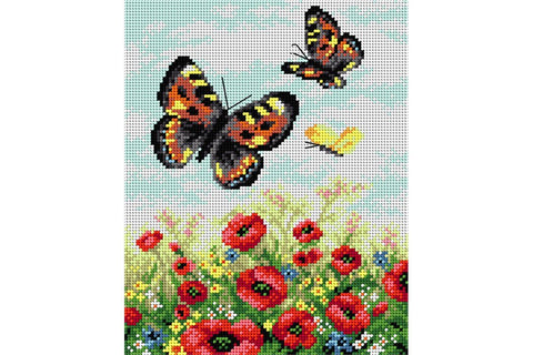 Orchidea Printed Tapestry Fabric - Butterflies on a Meadow