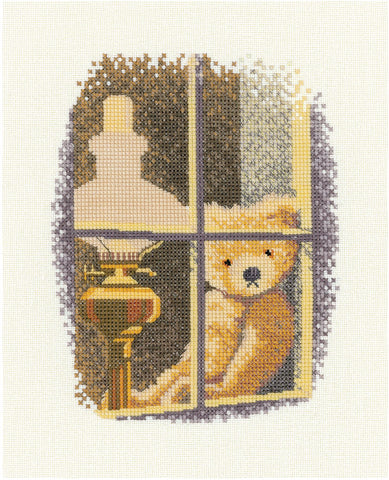 Heritage Crafts Cross Stitch Kit - William in the Window (Evenweave)