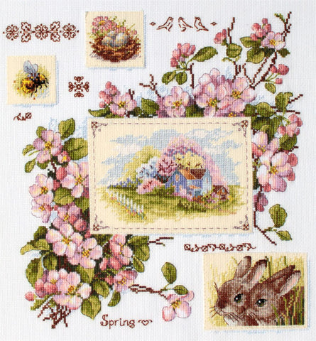 Merejka Cross Stitch Kit - Spring Sampler