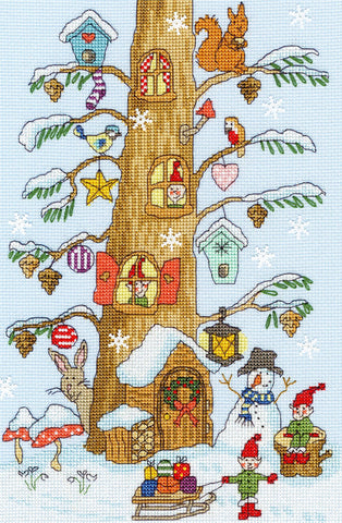 Bothy Threads Cross Stitch Kit - Santa's Little Helpers