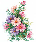 Magic Needle Cross Stitch - Cosmos Flowers