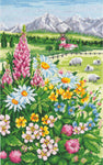 Andriana Cross Stitch kit - Alpine Meadow