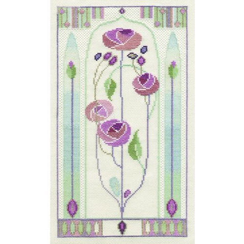 Derwentwater Designs Mackintosh Cross Stitch Kit - Oriental Rose