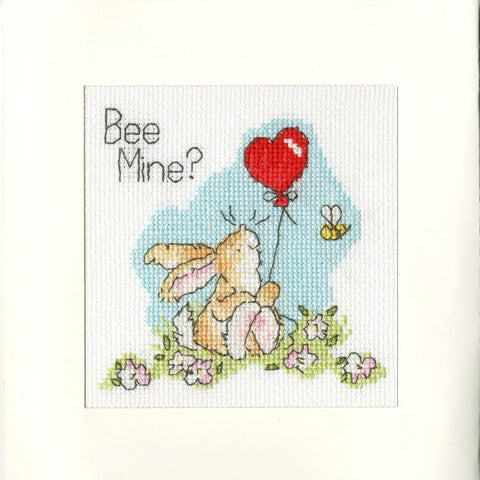 Bothy Threads Cross Stitch Card Kit - Bee Mine?