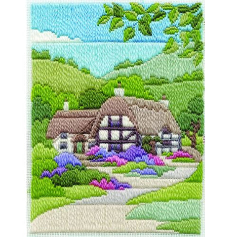 Derwentwater Designs Long Stitch Kit - Summer Cottage