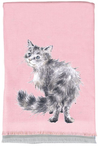 Wrendale Designs Winter Scarf and Gift Bag - Glamour Puss