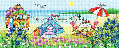 Bothy Threads Cross Stitch Kit - Glamping fun
