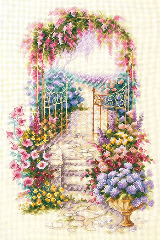 Magic Needle Cross Stitch Kit - Entrance To The Garden