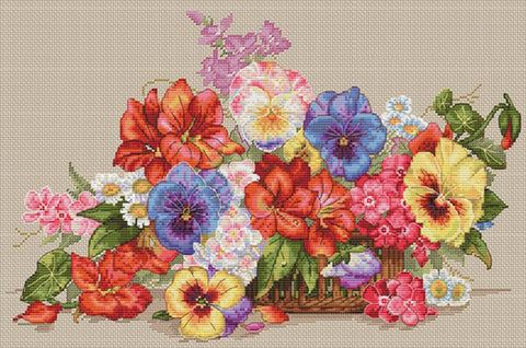 Merejka Cross Stitch Kit - Garden Flowers