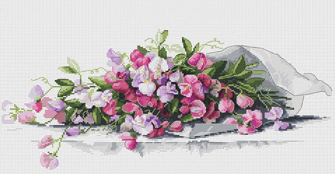 Merejka Cross Stitch Kit - Sweet Pea