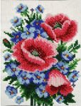 VDV Bead Embroidery Kit - Poppies and Cornflowers