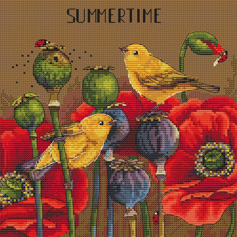 Merejka Cross Stitch Kit - Summertime (Aida)