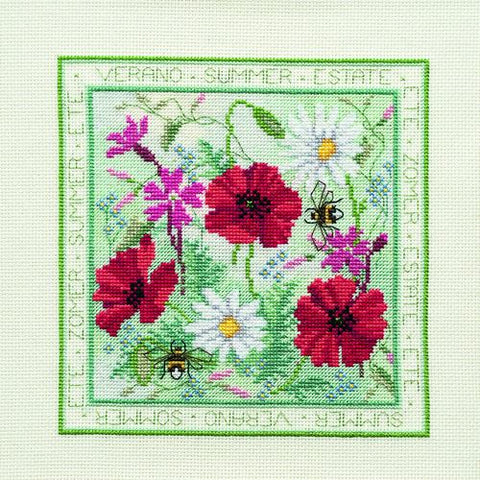 Derwentwater Designs Four Seasons Cross Stitch Kit - Summer