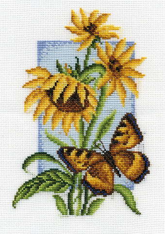 Panna Cross Stitch Kit : Tortoiseshell Butterfly
