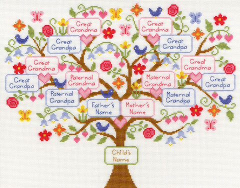 Bothy Threads Cross Stitch Kit - My Family Tree