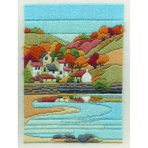 Derwentwater Designs Long Stitch Kit - Coastal Autumn