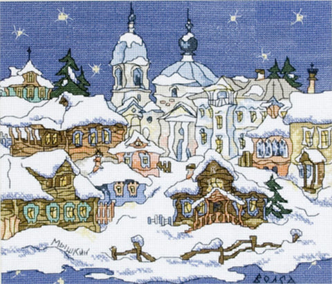 Panna Cross Stitch Kit : Starry Snow Scene