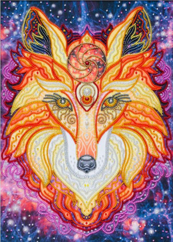 VDV Free-Form Bead Embroidery Kit - Flame Fox