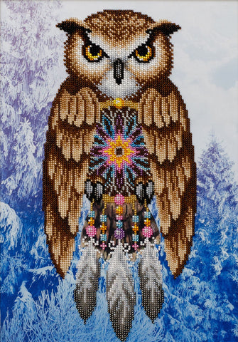 VDV Bead Embroidery Kit - Dreamcatcher Owl