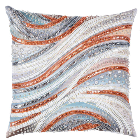 VDV Bead Embroidery Cushion Cover Kit - Decorative Waves