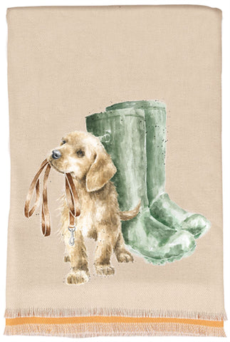 Wrendale Designs Winter Scarf and Gift Bag - Hopeful