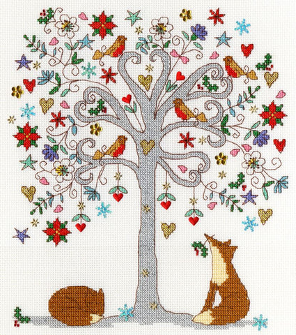 Bothy Threads Cross Stitch Kit - Love Winter