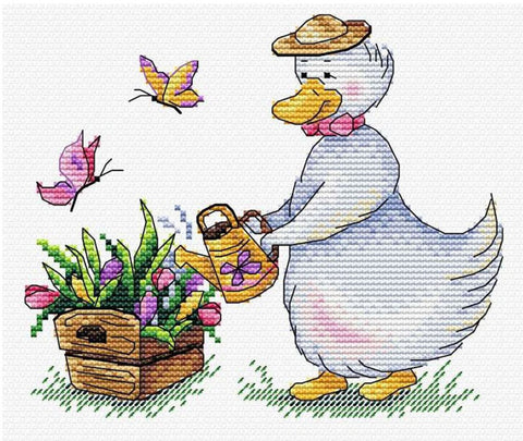 MP Studia Cross Stitch Kit - Gardening