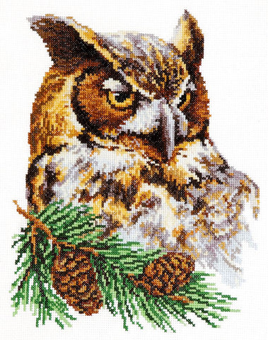 Magic Needle Cross Stitch Kit - Owl
