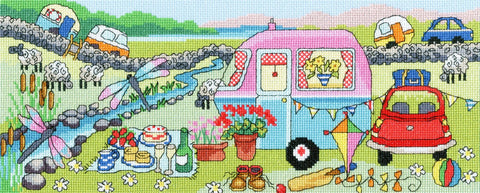 Bothy Threads Cross Stitch Kit - Caravan Fun