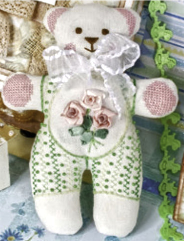 Panna Cross Stitch and Ribbon Embroidery Kit - Sweet Bear