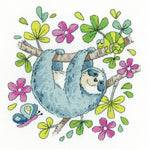Heritage Crafts Cross Stitch Kit - Sloth (Aida)