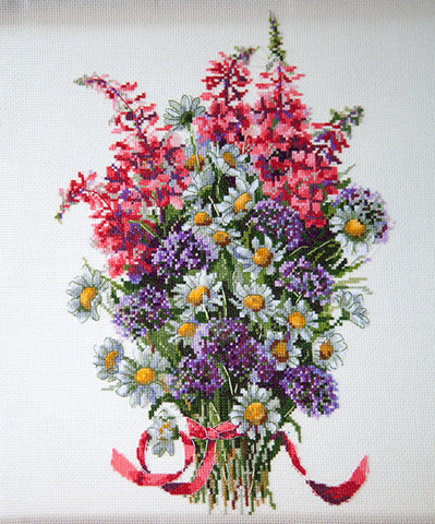 Merejka Cross Stitch Kit - Field Bouquet